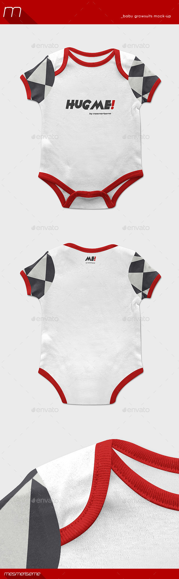 GraphicRiver Baby Growsuit Mock-up 9511214