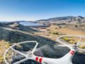drone flying over mountain valley - PhotoDune Item for Sale