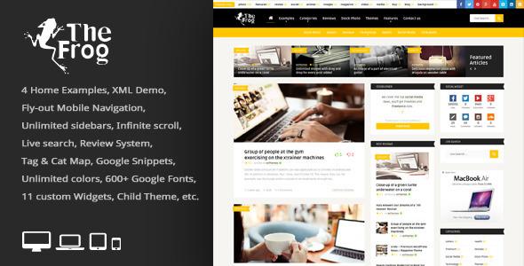 The Frog v1.5 Creative News/Blog Magazine WP Theme - Wordpress ...
