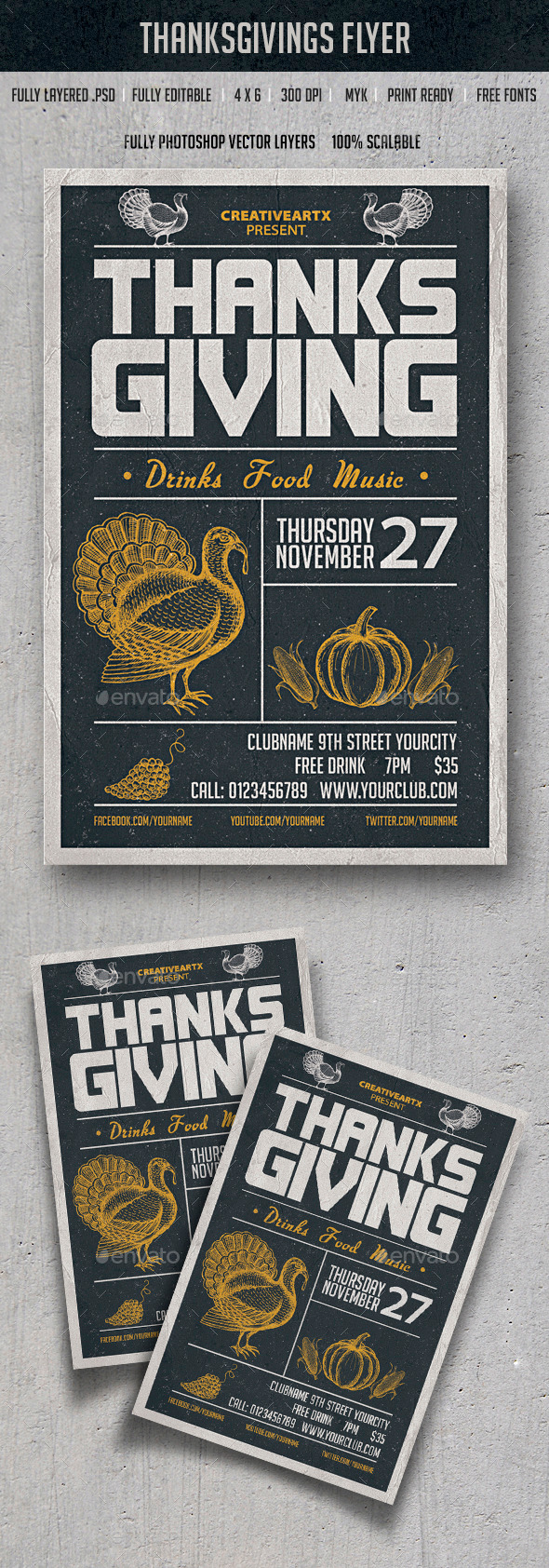 GraphicRiver Thanksgiving Flyer 9511351