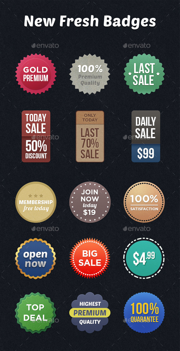 GraphicRiver New fresh badges 9463660
