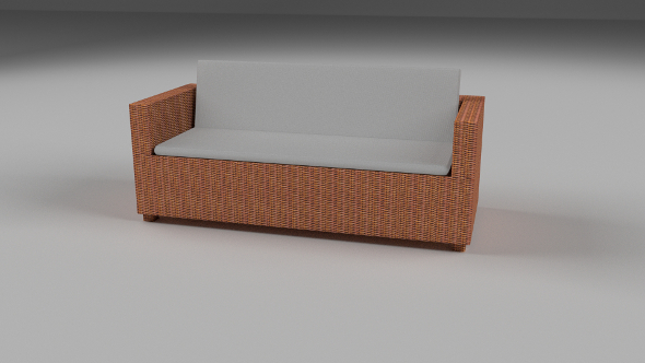 3DOcean Wicker Couch 9511809