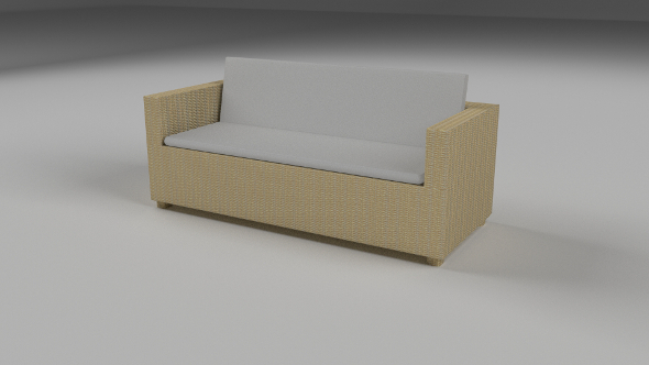 3DOcean Wicker Couch 9511827