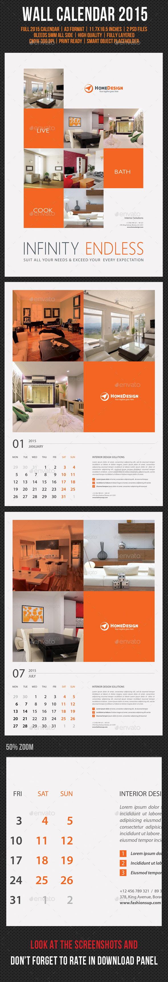 GraphicRiver Wall Calendar 2015 V16 9511840
