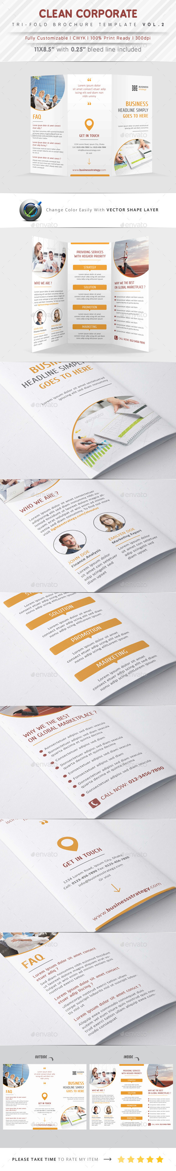 GraphicRiver Clean Corporate Tri Fold Vol.2 9511968