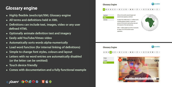 CodeCanyon Glossary Engine 9511995