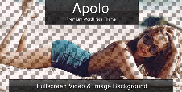 Apolo - Fullscreen Video & Image Background +Audio - Photography Creative