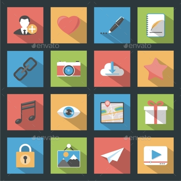 GraphicRiver Socia Media Web Icons 9512277