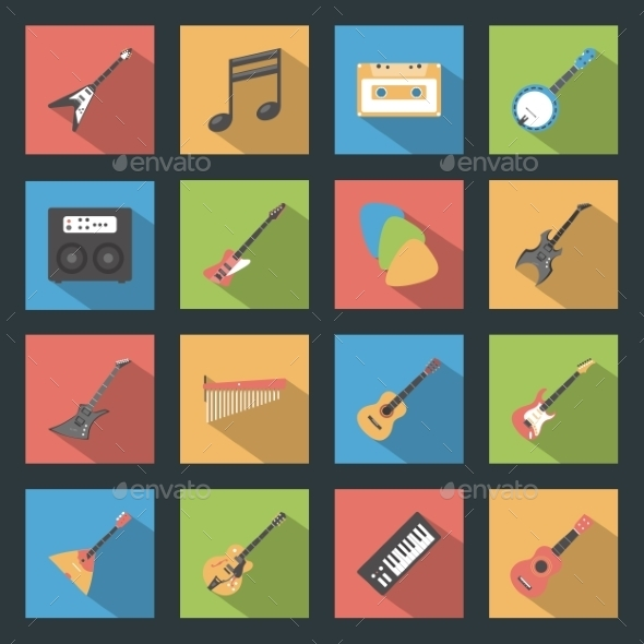 GraphicRiver Musical Instruments Icons 9512283