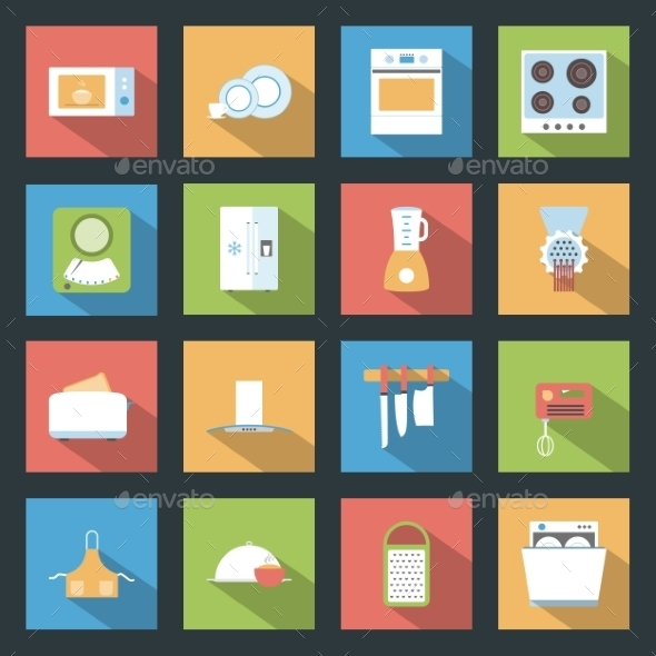 GraphicRiver Kitchen Icons 9512284