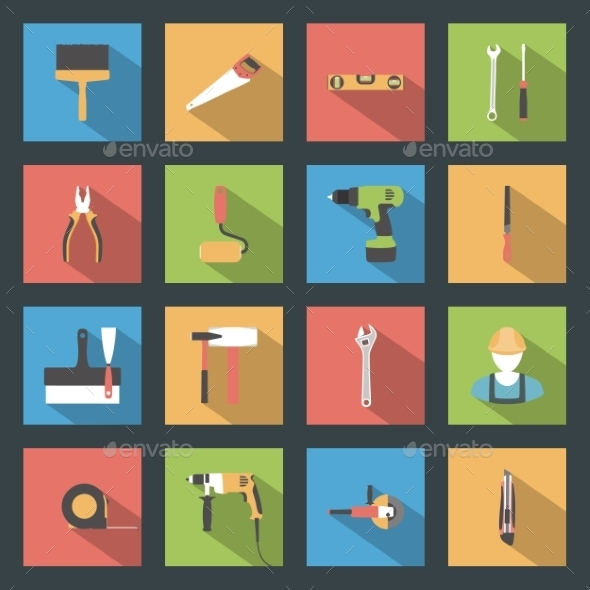 GraphicRiver Construction Icons 9512285