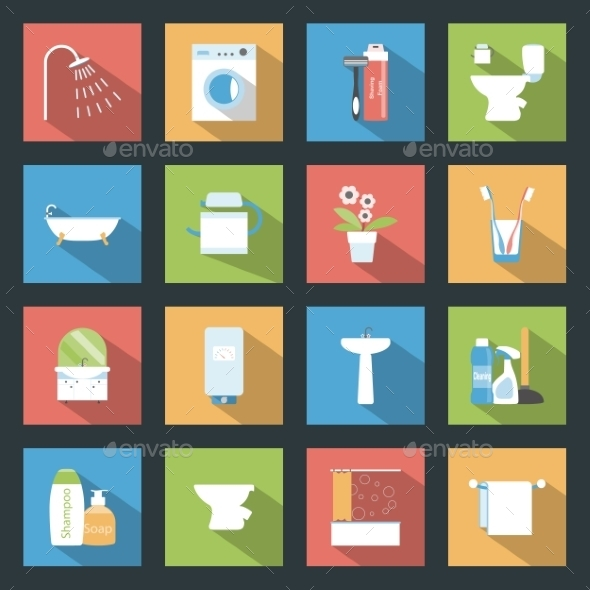 GraphicRiver Bathroom Icons 9512286