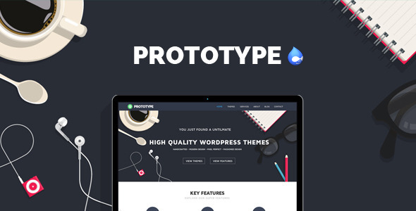 preview.  large preview - Prototype - Flat Drupal Theme