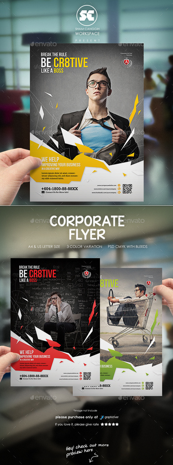 GraphicRiver Creative Corporate Flyer 9512354