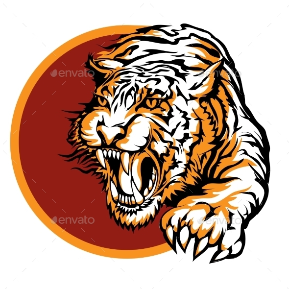 GraphicRiver Tiger Symbol 9512387