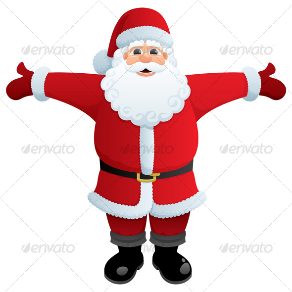 GraphicRiver Santa Hug 121505