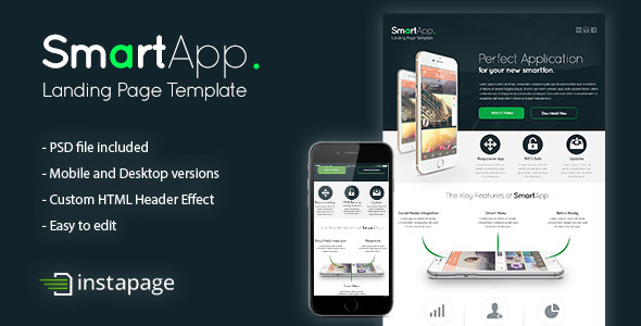 ThemeForest SmartApp Instapage Landing Page Template 9463283