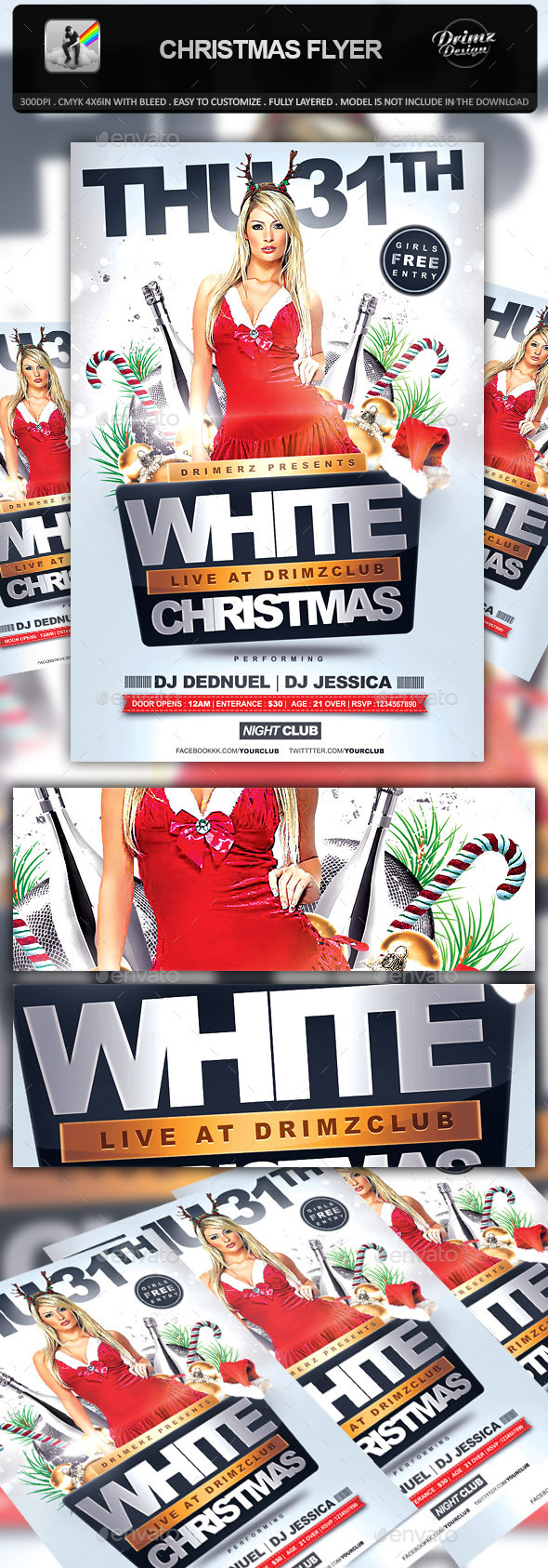 GraphicRiver Christmas Flyer 9512489