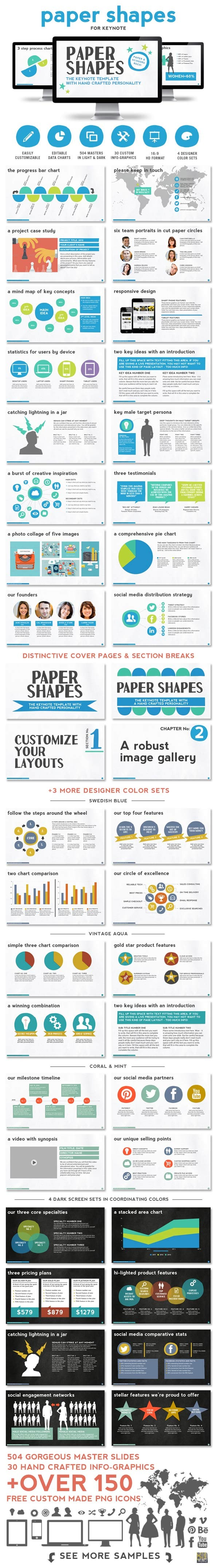 GraphicRiver Paper Shapes Keynote Presentation Template 9512520