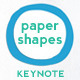 Paper Shapes Keynote Presentation Template - GraphicRiver Item for Sale