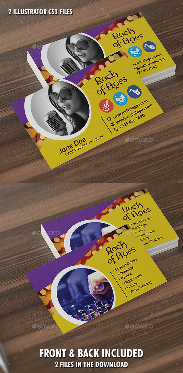 GraphicRiver Vocalist or Producer Business Card Template 9467229