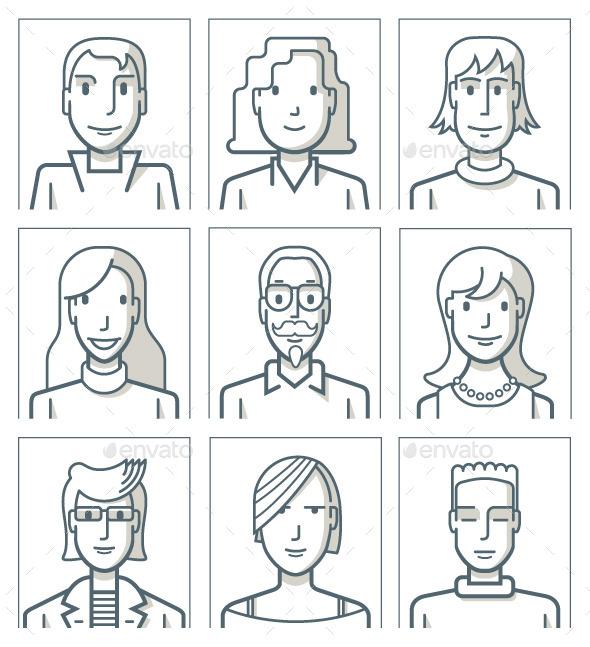 GraphicRiver Nine Avatars 9473093