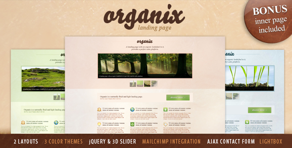 Organix - Simple Product Oriented Landing Page