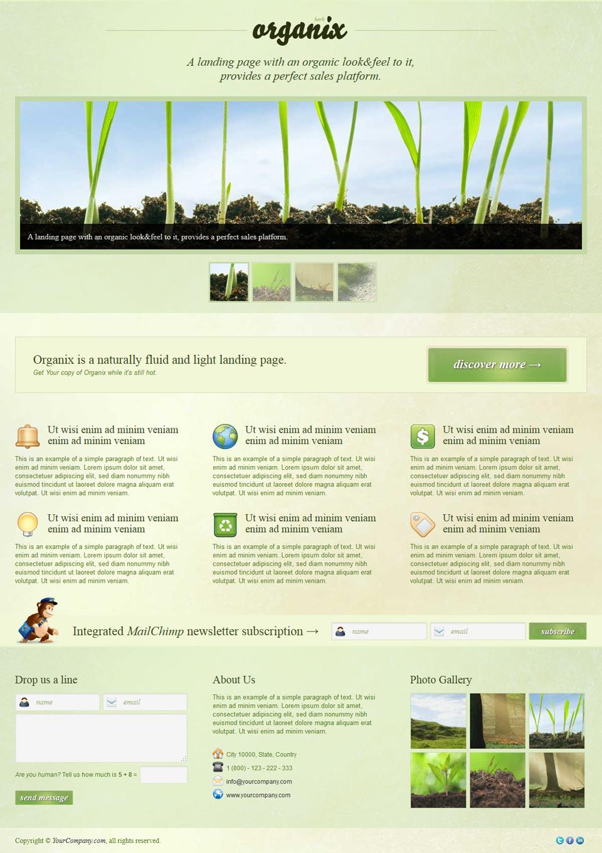 Organix - Simple Product Oriented Landing Page - Organix - Herb Thumbnail Slider