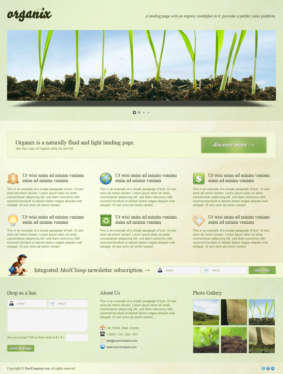 Organix - Simple Product Oriented Landing Page - Organix - Herb 3D Slider