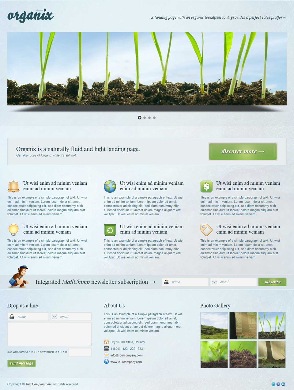 Organix - Simple Product Oriented Landing Page - Organix - Denim 3D Slider