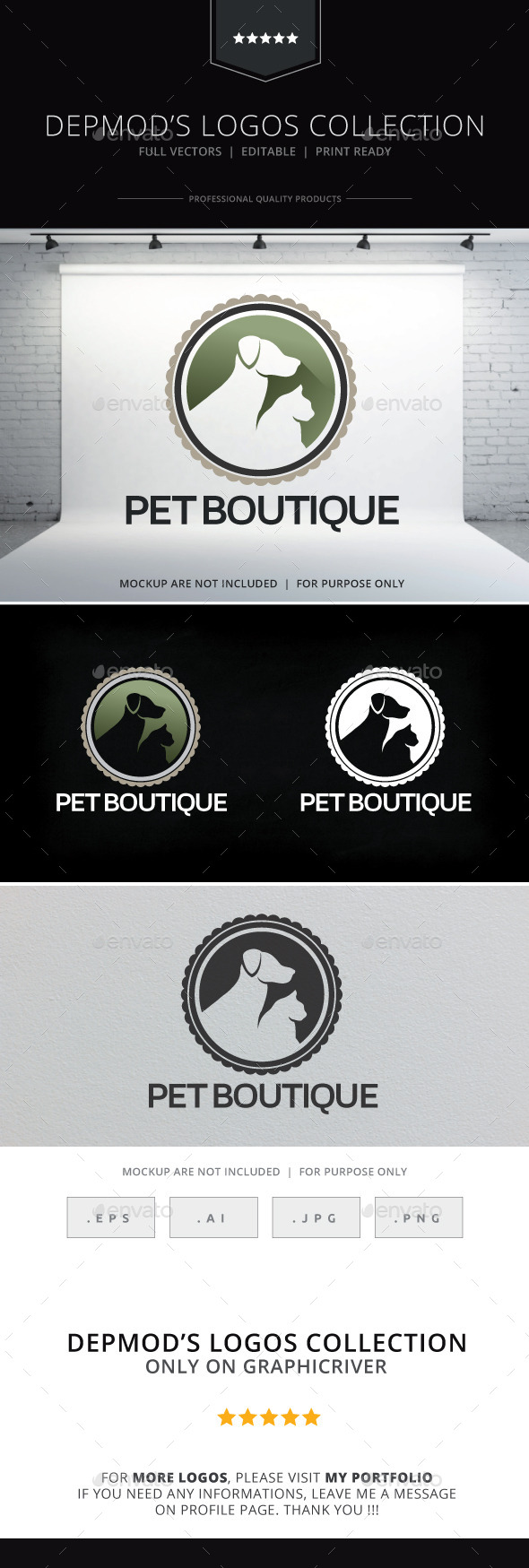 GraphicRiver Pet Boutique Logo 9512959
