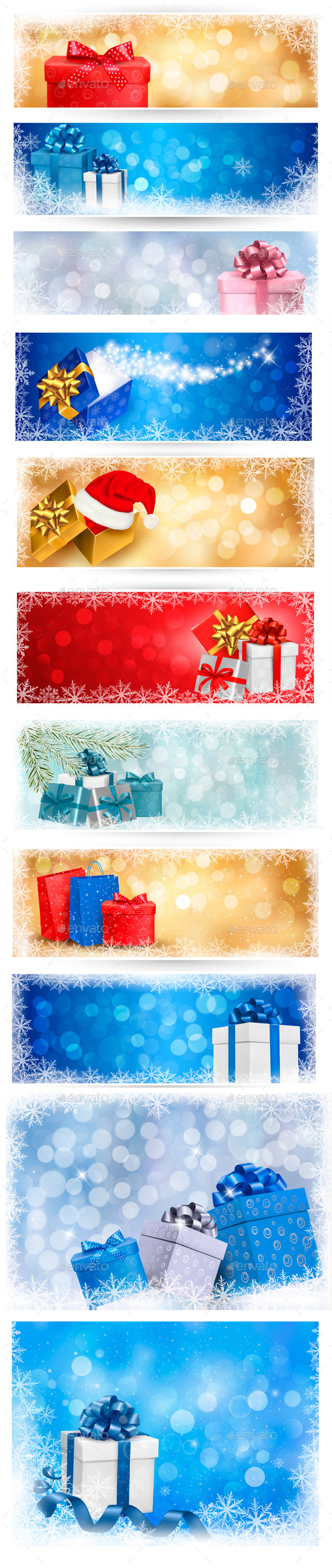 GraphicRiver Christmas Backgrounds and Banners Bundle 9475313