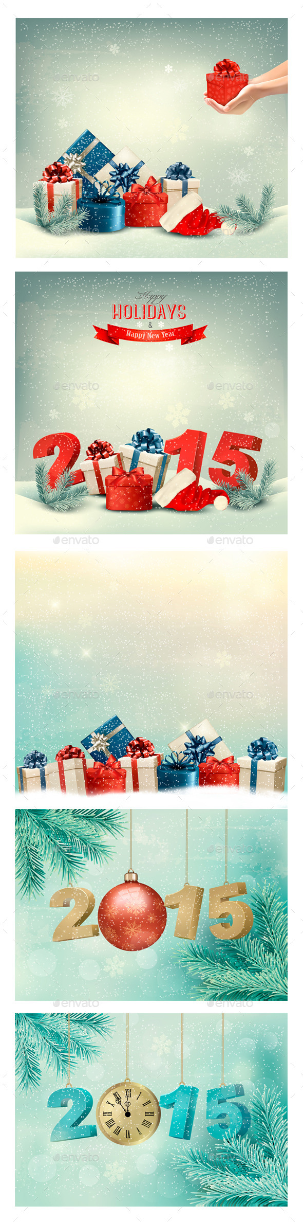 GraphicRiver Holiday Christmas Backgrounds Bundle 9475350