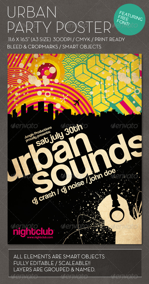 GraphicRiver Urban Party Poster 967138