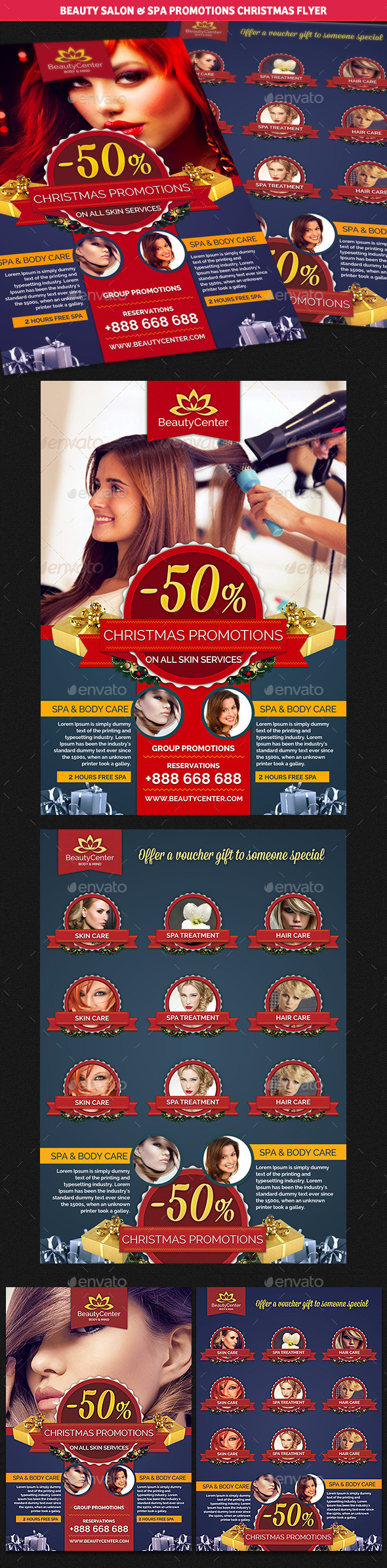 GraphicRiver Beauty Center & Spa Christmas Promotions Flyer 9467837