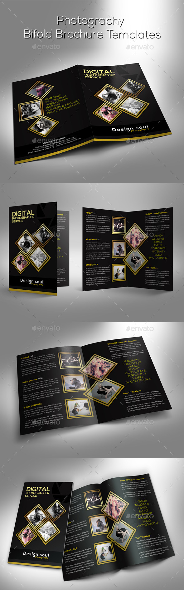 GraphicRiver Photography Bifold Brochure 9513214