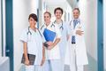 Multiethnic Doctors With Stethoscopes Around Neck In Hospital - PhotoDune Item for Sale