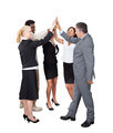 Multiethnic Business Team Joining Hands Over White Background - PhotoDune Item for Sale