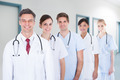 Medical Team Standing In Row At Hospital - PhotoDune Item for Sale