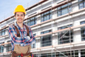Architect With Arms Crossed Standing Against Building - PhotoDune Item for Sale