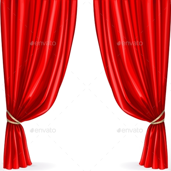 GraphicRiver Red Curtain 9513267