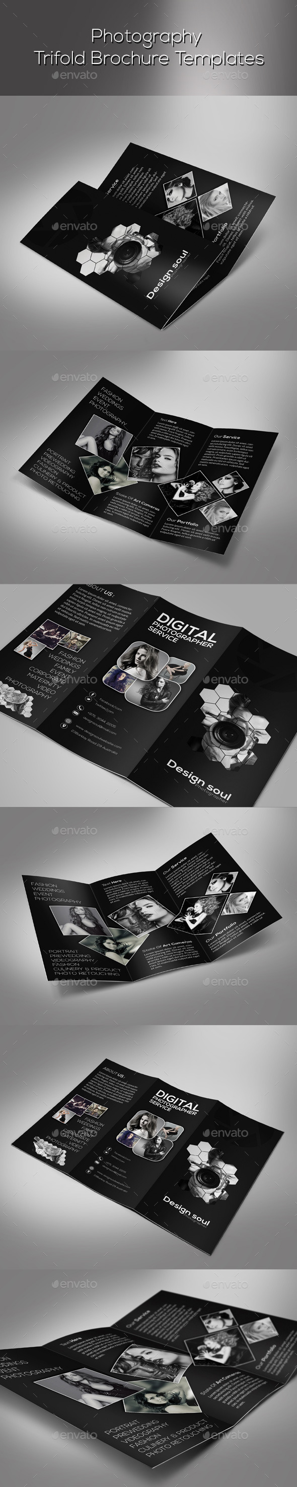 GraphicRiver Photography Trifold Brochure 9513277