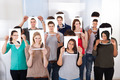 College Students Holding Photographs In Front Of Faces - PhotoDune Item for Sale