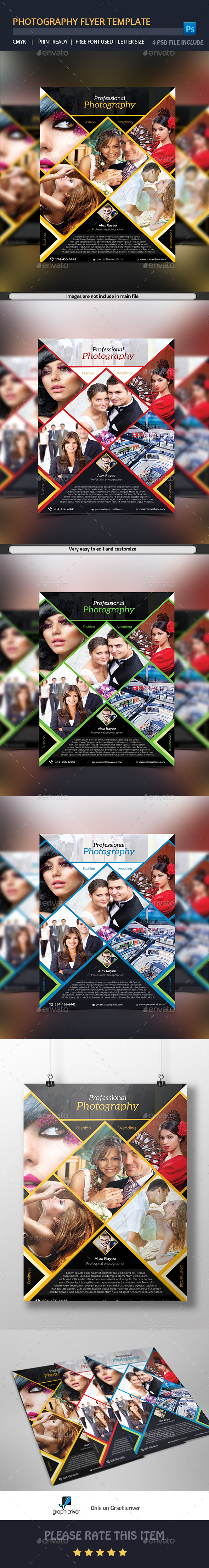GraphicRiver Photography Flyer Template 9513422