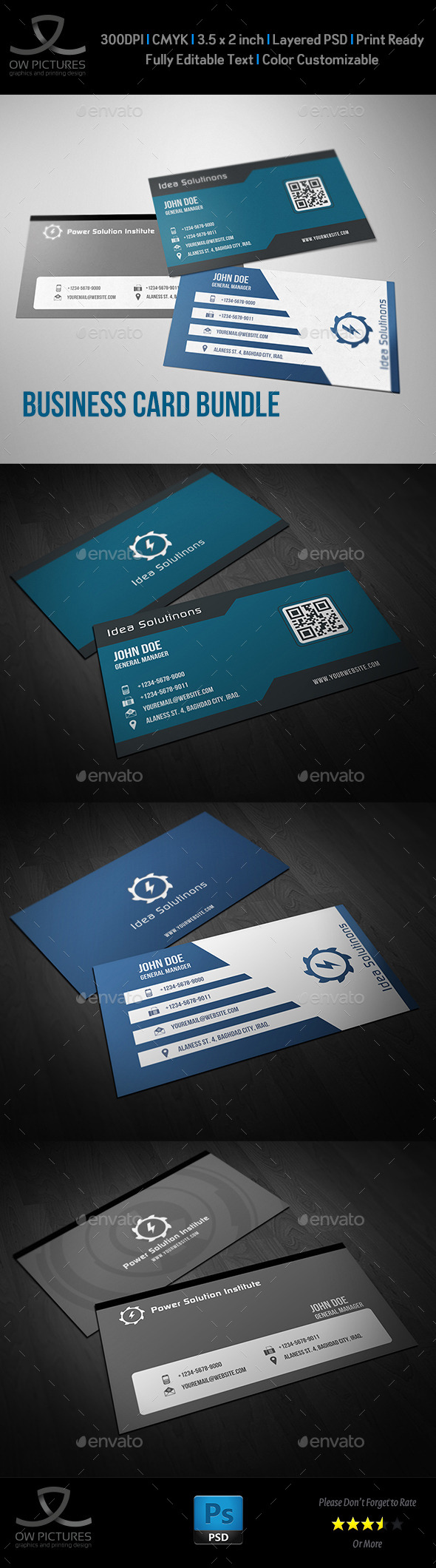 GraphicRiver Corporate Business Card Bundle Vol.6 9513484