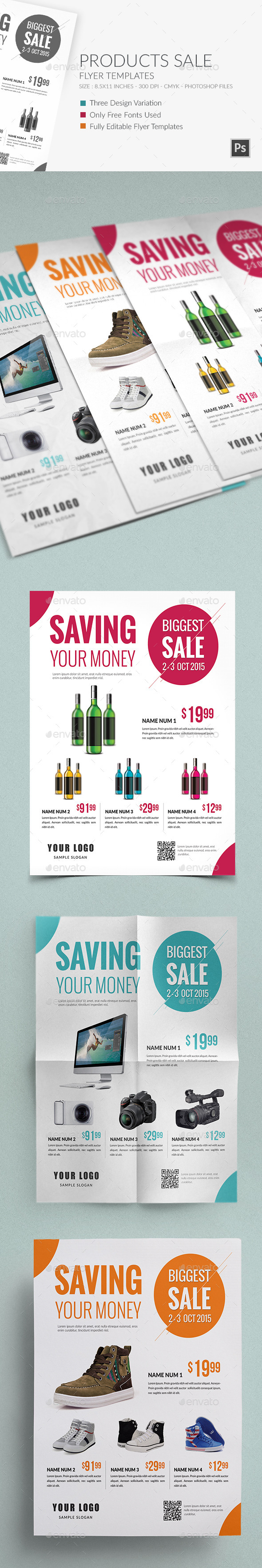 GraphicRiver Products Sale Flyer Template 9451736