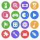 Gaming (Game) Flat Icons - GraphicRiver Item for Sale