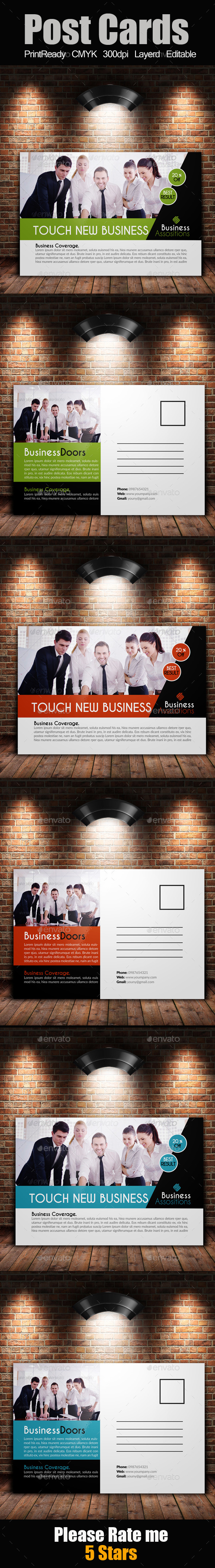 GraphicRiver Multi Use Business Post Cards 9513637
