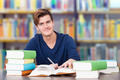 College Student Studying In Library - PhotoDune Item for Sale