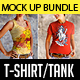 Female T-Shirt Tank Mock Up Bundle - GraphicRiver Item for Sale